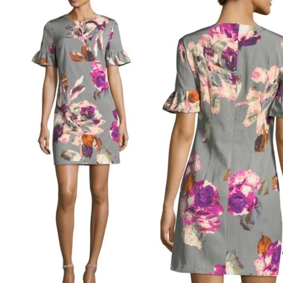 a1bd82c51bb Trina Turk Darling Ruffle Sleeve Floral Dress NWT
